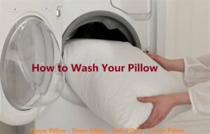 How to wash your pillow