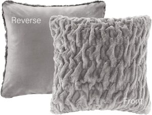 Comfort Space 20'' Faux Fur Throw Pillow