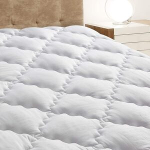 King Mattress Pad Cover with Stretches