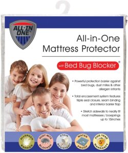 Water Resistant Zip-Up Mattress Protector to Help Protect Against Bugs