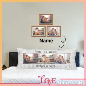 Custom Pillow Case Personalized Throw Pillow for Living Room Long Body Pillow Case Cover