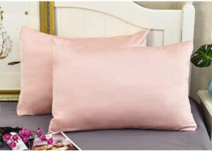Silk Pillowcases Set of 2 for Hair and Skin and Super Soft and Breathable Standard Size