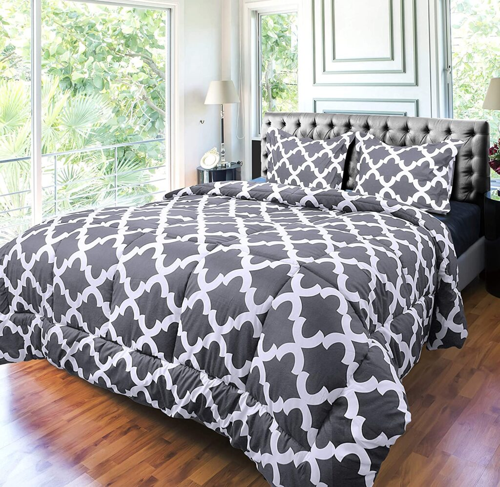 Bedding Printed Comforter Sets with 2 pillow and Shams
