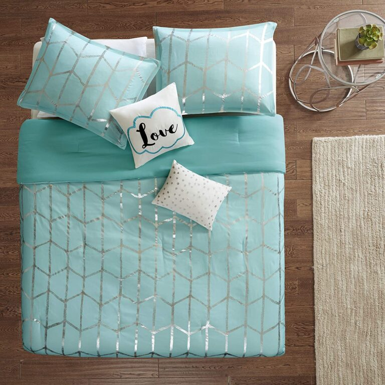 Teal and Grey Comforter Sets
