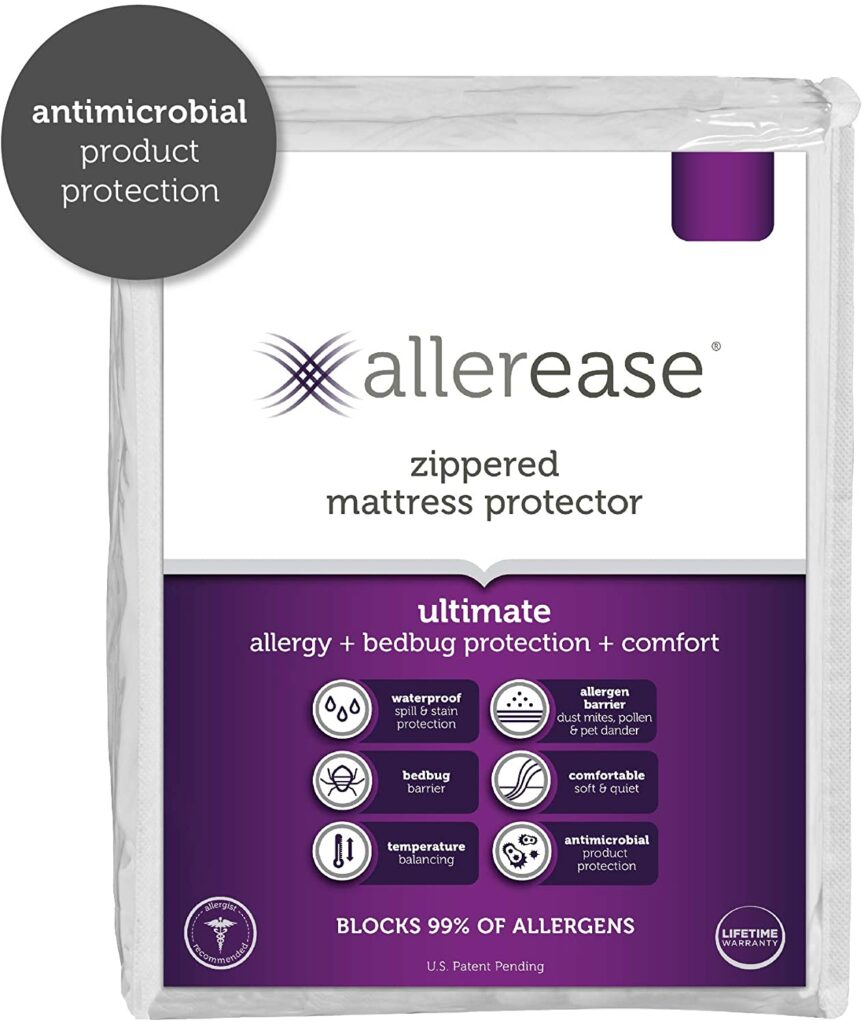 AllerEase Ultimate Allergy Protection and Comfort Zippered Mattress Protector